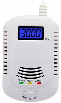 Detektor oxidu uhoľnatého a plynov LCD DETEKTOR OXIDU UHLIA