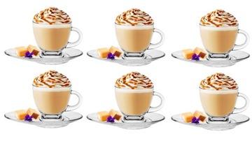 Kávové šálky Čaj 6ks 230ml + dosky