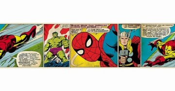 Dekoratívny samolepiaci nástenný pásik Marvel Comics