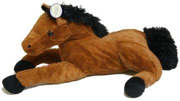 Maskot koňa svetlohnedý kôň (hlas) - 40 cm