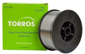 Samo-pól zváracieho drôtu 0,8 mm 1kg bez plynu
