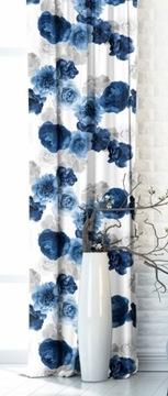 LÁTKA Materiál na záclony Obrusy AZ-147 Kvety
