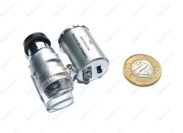 Mini vreckový mikroskop Ultrafialový x 60 lupy