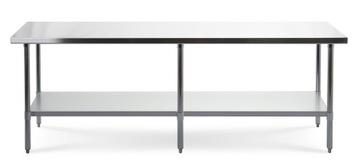 Pracovný stôl. Gastronomická nerezová tabuľka 240 cm