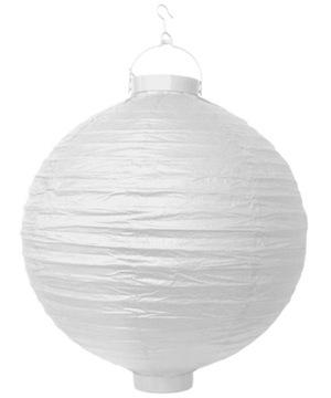 Záhradný papier Lantern s LED žiarovkou 20 cm White