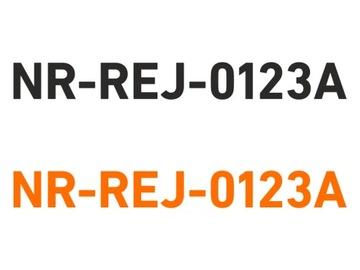 Vodotesné registračné čísla lode loď
