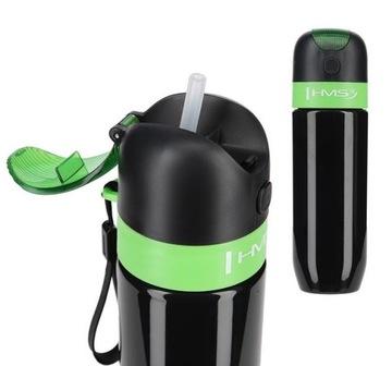 Termohrnček Fľaša na vodu Fľaša + STRAW 600ml