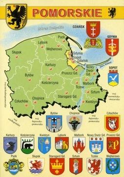 Pomeranian vojvodstvo Mapa Herby WR794