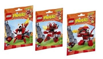 LEGO MIXELS 4 41530 + 41531 + 41532 MELTUS FLAMZER