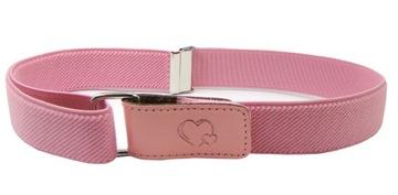 Detský ružový nohavicový pás s úpravou na suchý zips