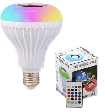 Bluetooth reproduktor E27 LED RGB Disco Diaľkové ovládanie