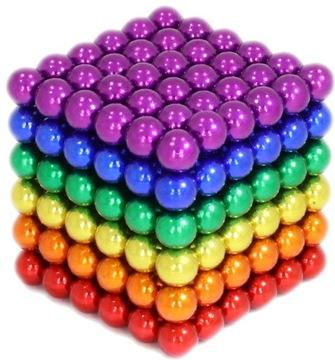 NEOCUBE Magnetické gule 216 ks. 5 mm Rainbow!