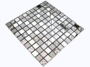 Sklenená mozaika strieborná MIRROR MIX + zrkadlová žiara