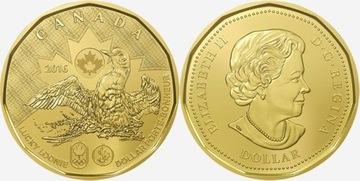 Kanada 1 $ 2016 Rio Lucky Loon