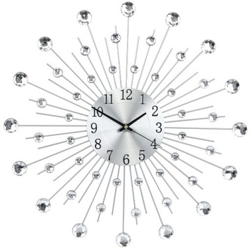 WALL CLOCK Štýlový 50CM CRISTAL DIAMOND 48PCS