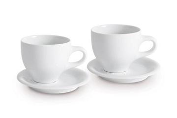 Sada porcelánových šálky kávy