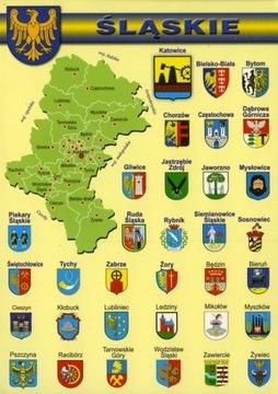 Sliezske vojvodstvo Mapa Herby WR801 - 10 ks