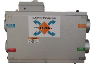 Vzduchotechnická jednotka Rekuperátor 200m3 / h ionizato