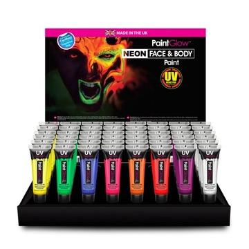 UV náter na tvár a telo paintglow set 8ks