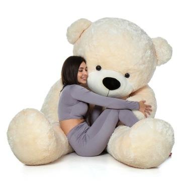 Veľký plyšový medveď 200 cm, trojfarebný maskot
