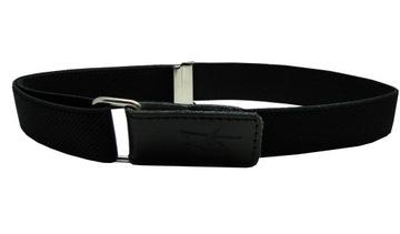 Nohavičný pás, čierny, úprava suchým zipsom