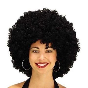 Afro parochňa čierne kučeravé vlasy na párty