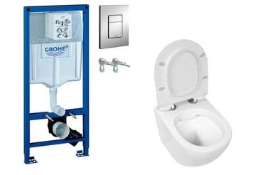 WC SET GROHE stojan s miskou CARO a štíhlym sedadlom