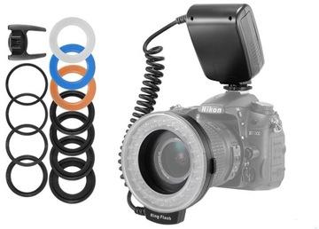 Ring lampa Flash makro objektívna kamera