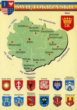Świętokrzyskie vojvodstvo Mapa Herby WR793