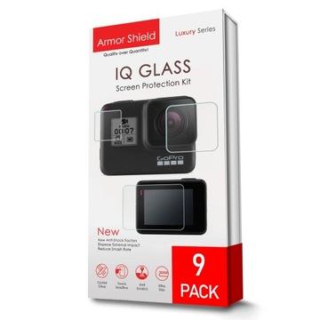 9PC Ochranné sklo Hybrid GO PRO HERO 7 SET