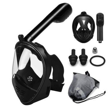Plná potápačská maska zložená