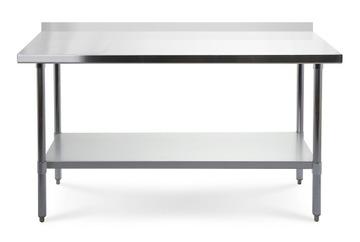 Pracovný stôl s top z nehrdzavejúcej ocele 180 cm