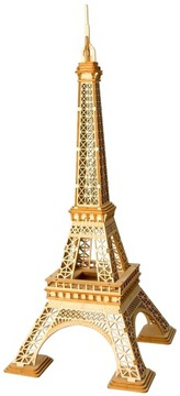 ROBOTIME Drevené 3D puzzle model Eiffelova veža