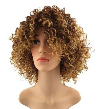 Parochňa afro kučeravý kučeravý cosplay glam rock blond c