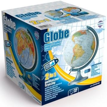 Globus 250 mm ILLUMINATED *** LED *** 2v1 pol-fyz
