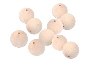 KULIČKY, drevené korálky, surové DECOUPAGE 20mm 10ks