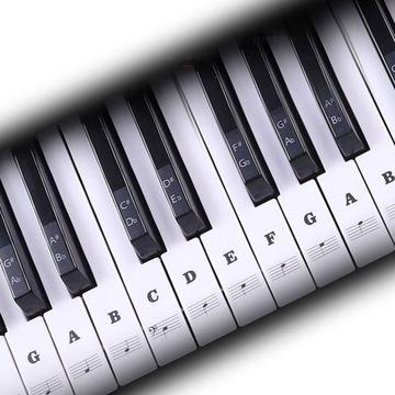 Stickery klávesnice Muzu NK1 Keys Black Poznámky
