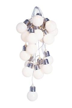 20 LED žiaroviek na batériách 300 cm BIELY SVIETIDLÁ