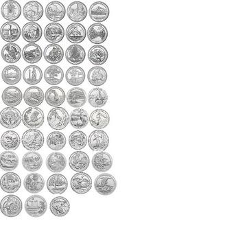 USA Parky - Sada všetkých 56 mincí Mint D