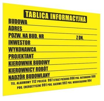 Informačné tabule pre výstavbu 70x50 cm