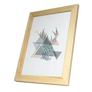 Foto rámček pre dimenziu drevo surový rytec pine n