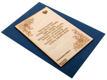 Drevená darčeková karta. Gravírovanie na Valentína
