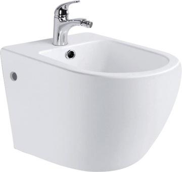 Závesný toaletný bidet CARO, keramický