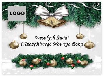 Vianočné pohľadnice s logom obchodnej spoločnosti