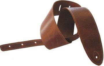 Presto PES-8 kožený gitarový pás hnedý