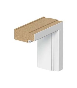 Pevná biela zárubňa pre dvere rámových panelov