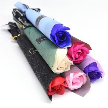 Sada 5 ks Rose Soap Darčekové kvety Rosette
