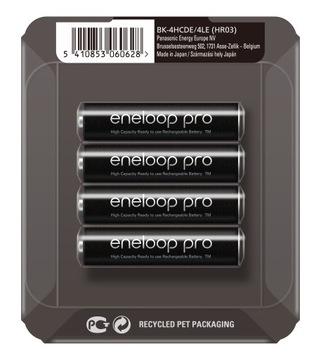 4 x AKU Panasonic ENLOOP PRO R03 / AAA SOLID BOX