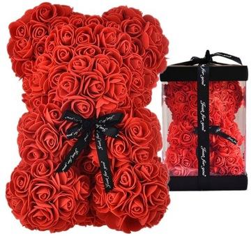 MEDVEĎ S RUŽÍM ROSE MEDVEĎ ROMANTICKÝ DARČEK V KRABICI