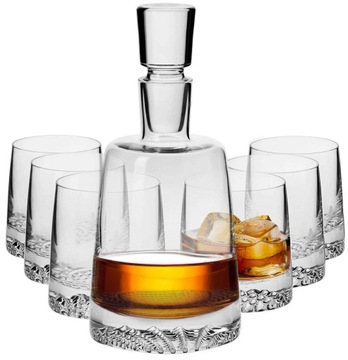KROSNO Fiord sada 6 + 1 karafy pohárov na whisky